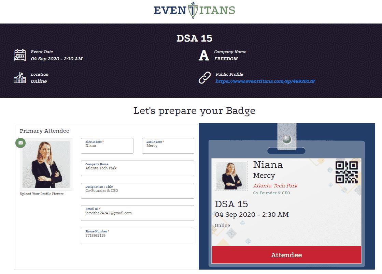 Event Badging