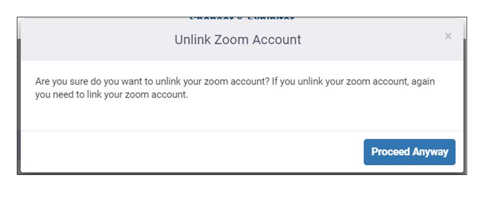 unlinking Zoom Meeting